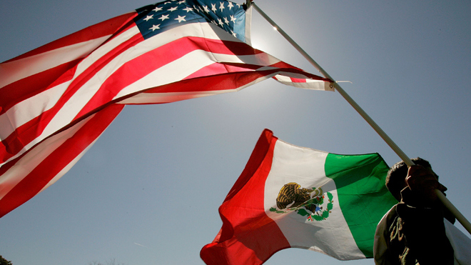 The American Flag and The Creeping Mexican Flag
