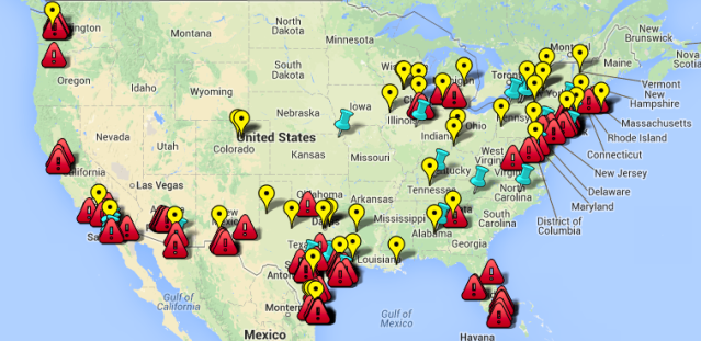 Map of Illegal Immigrant Relocation Centers