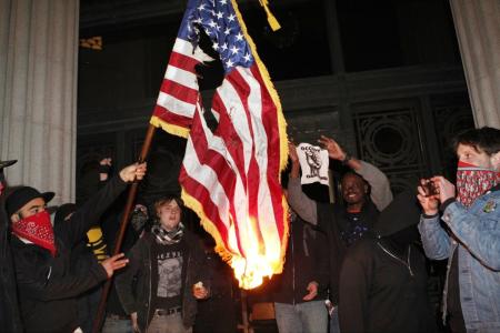 occupy-burning-flag1